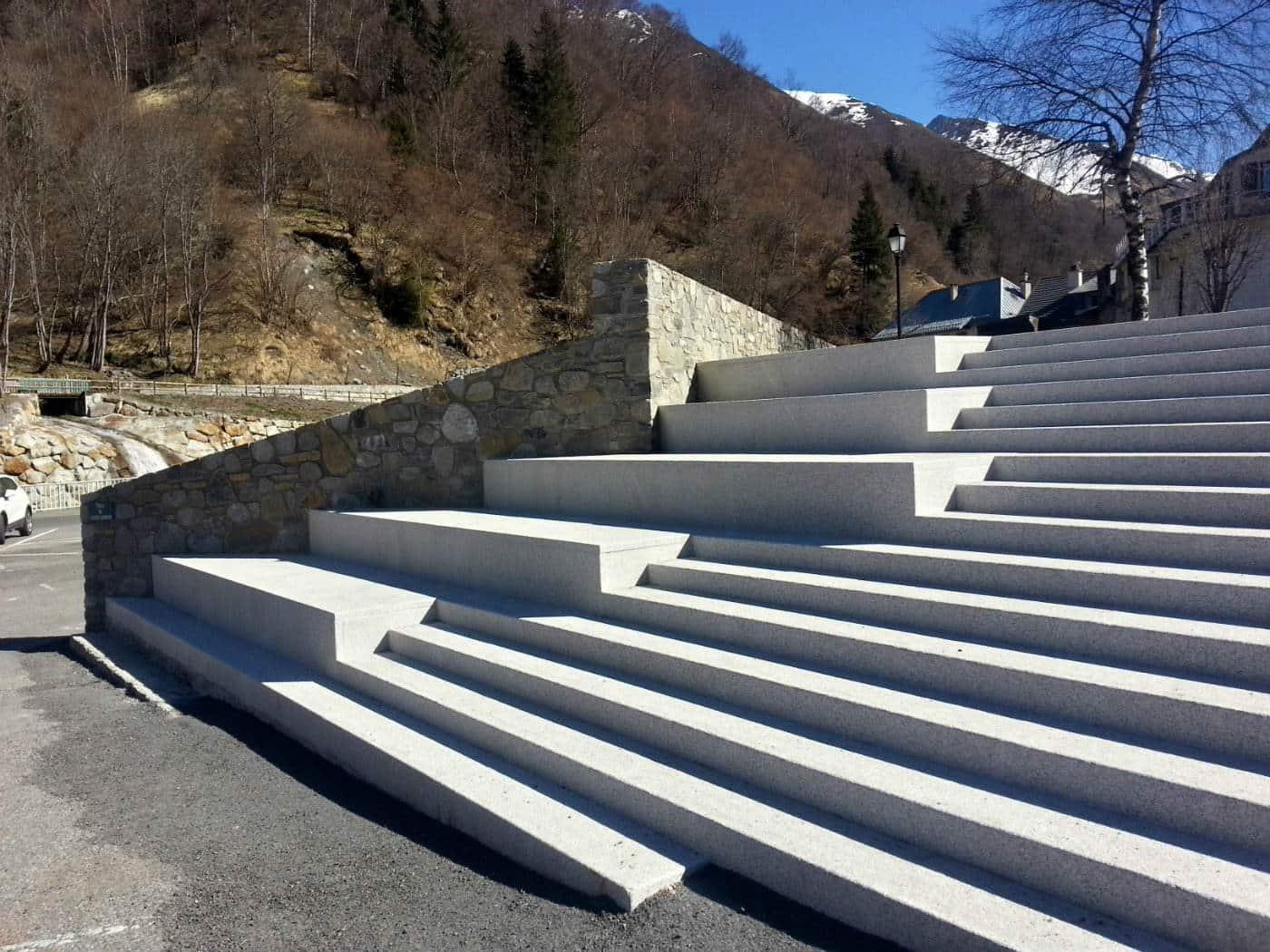 Le grand escalier solarium terminé
