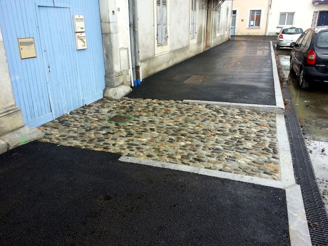 Seuil  devant garage