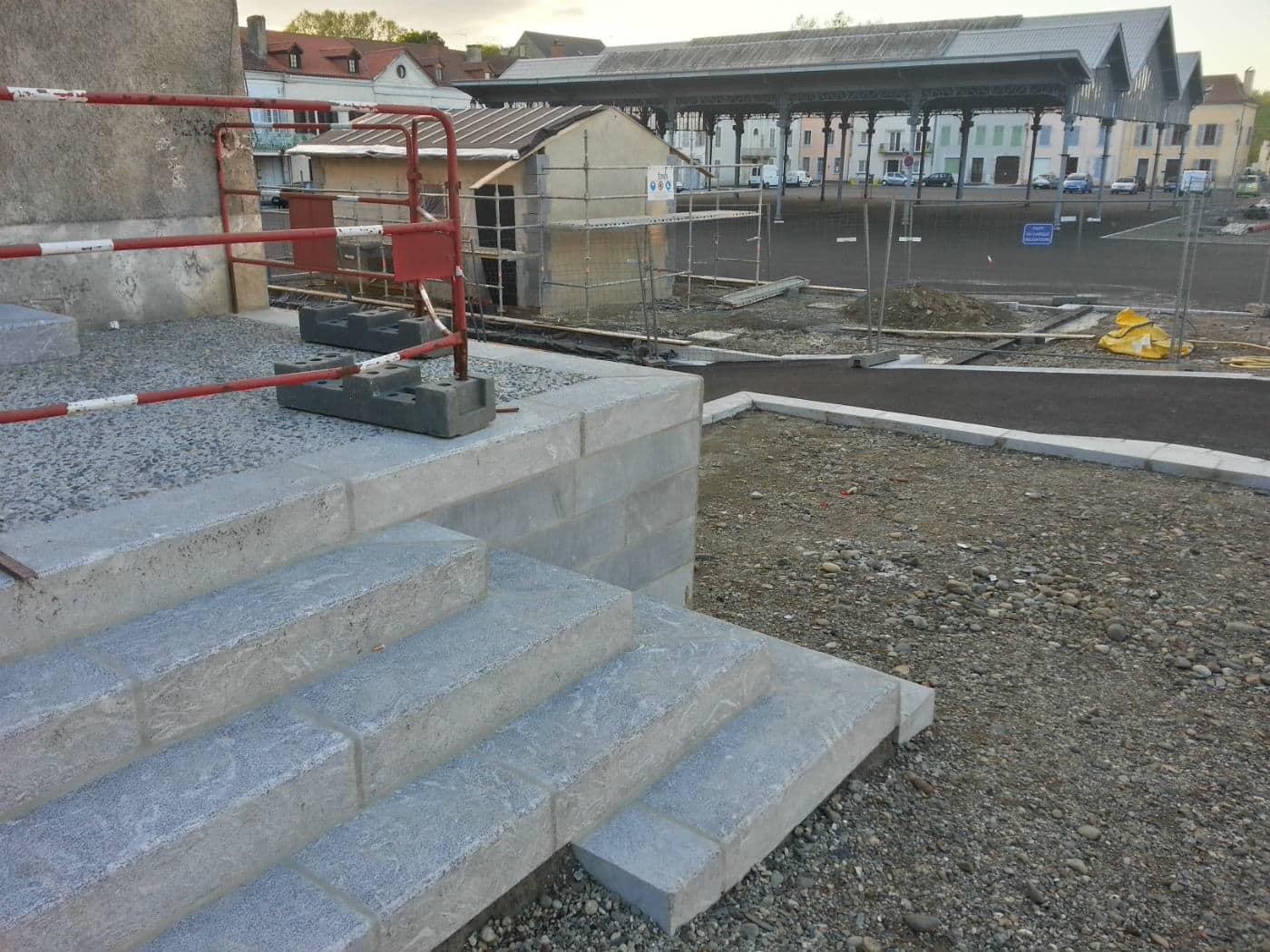 Carrefour : création d'un escalier