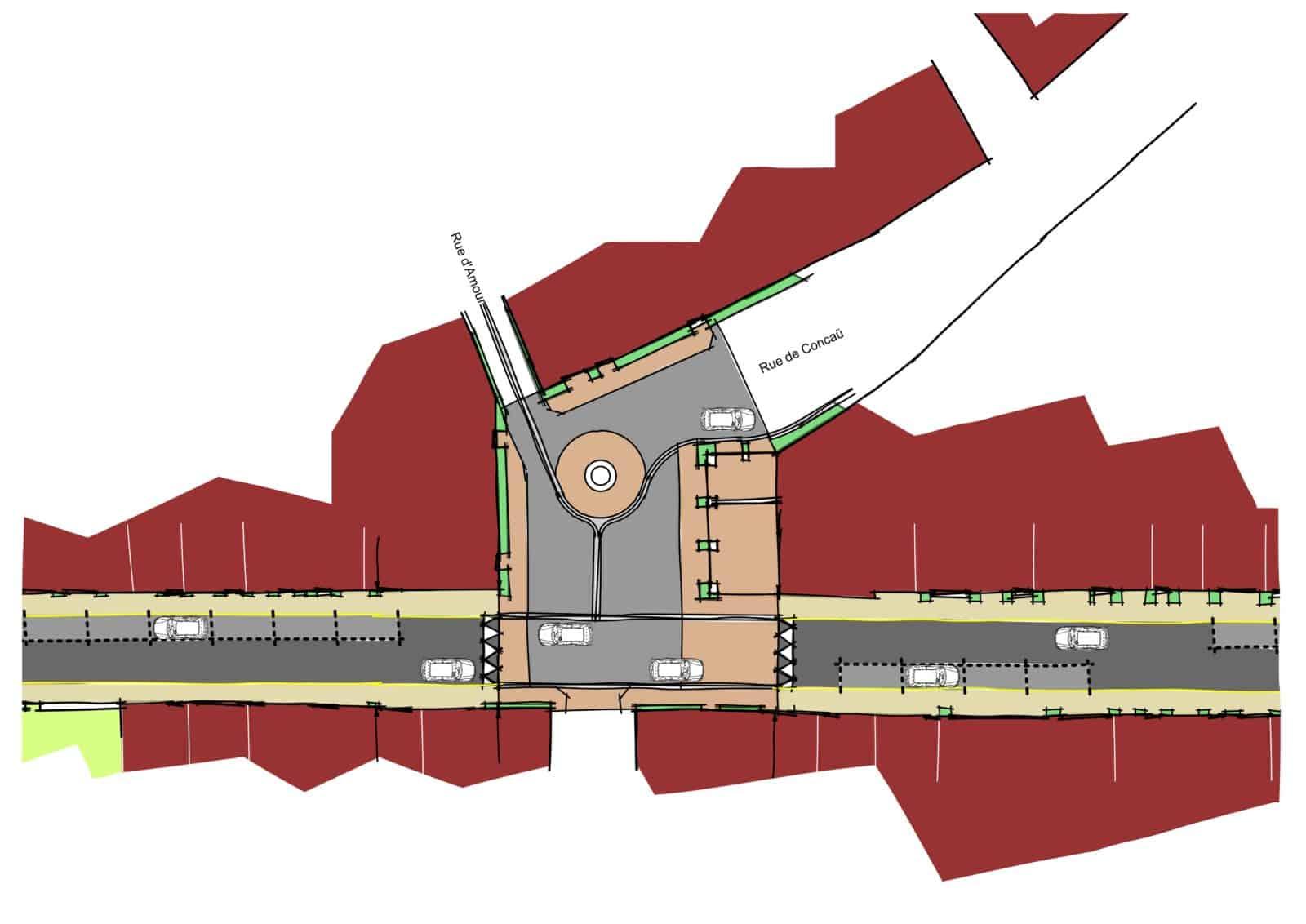 Plan masse : place des Centenaires
