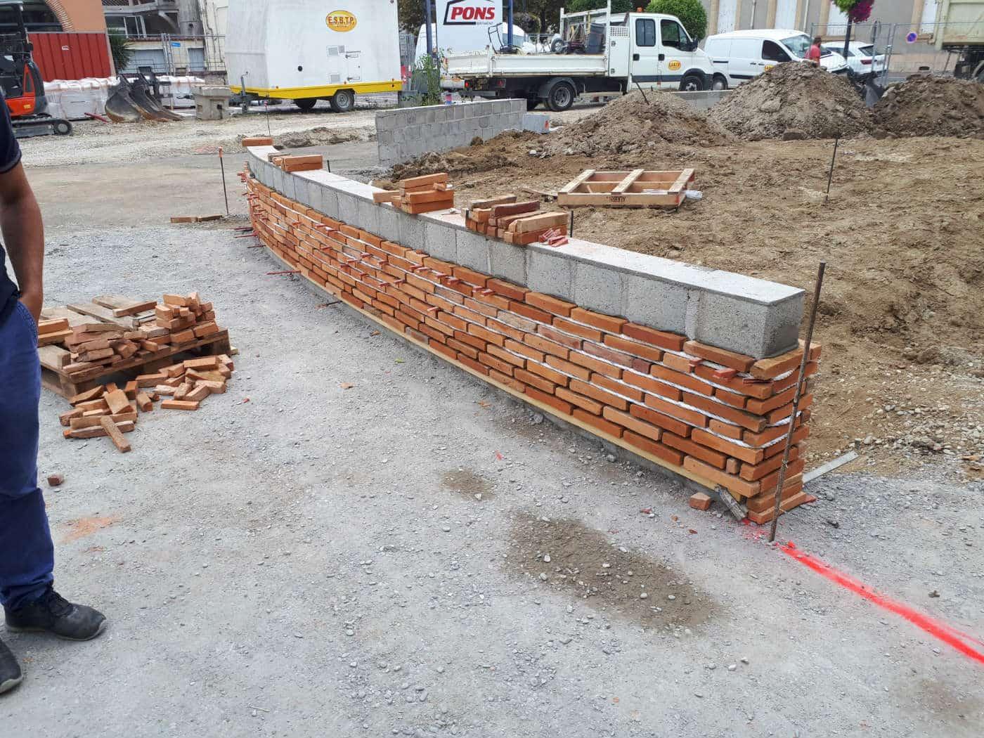 Création muret briques
