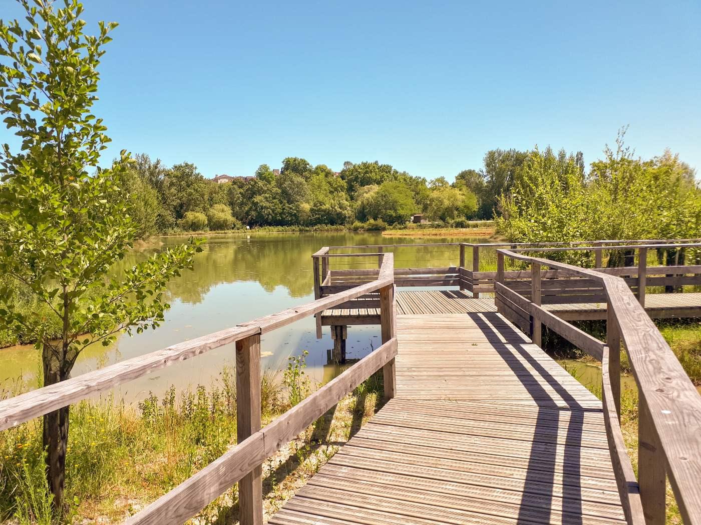 Point de vue sur l'étang et le village