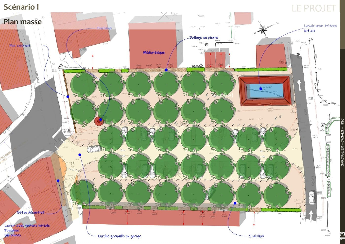 Plan masse AVP scénario 1