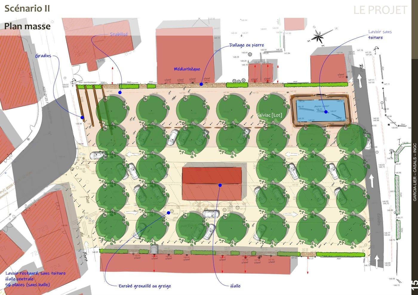 Plan masse AVP scénario 2