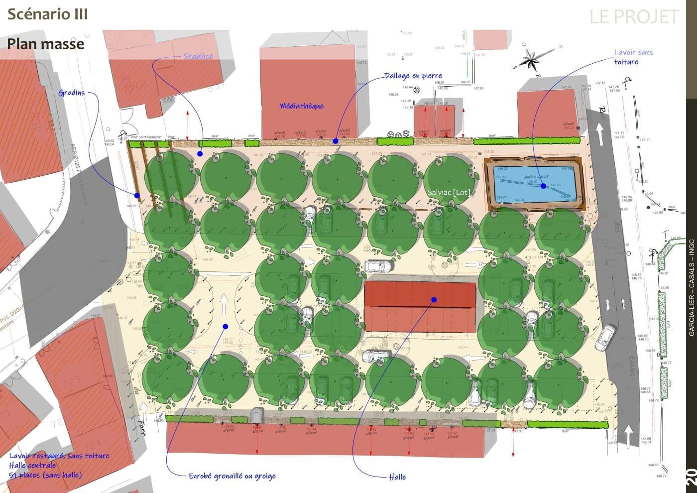 Plan masse AVP scénario 3