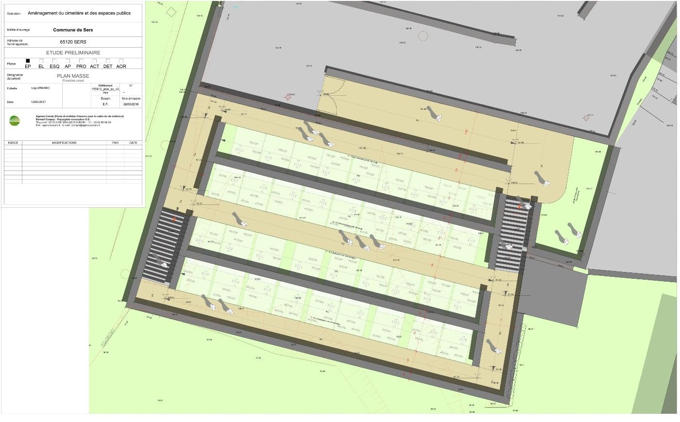 Plan masse AVP nouveau cimetière