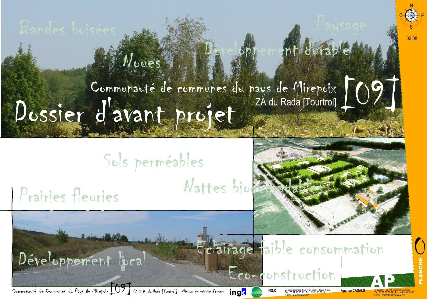 Notice d'Avant Projet (esquisses)