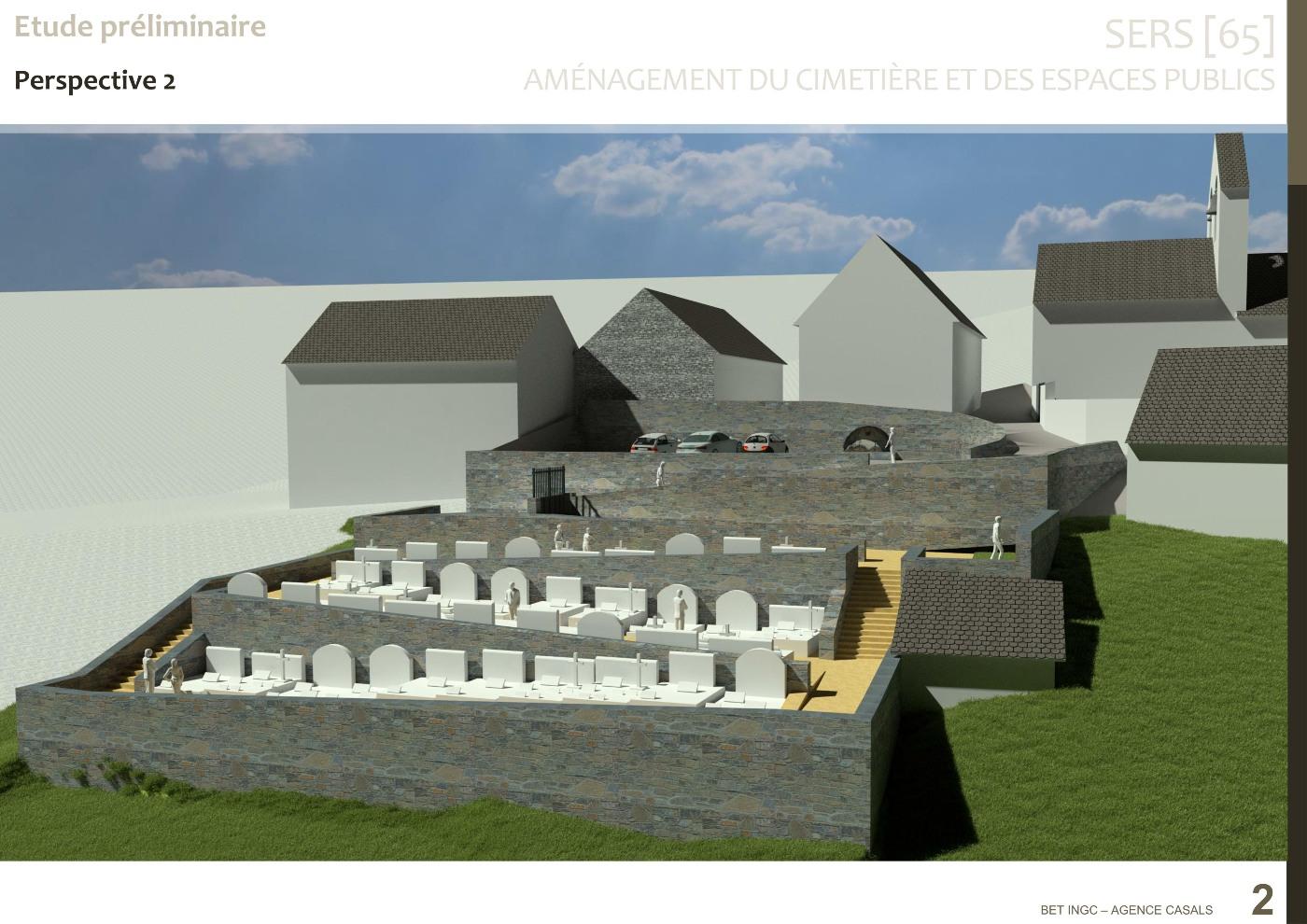 Perspective nouveau cimetière