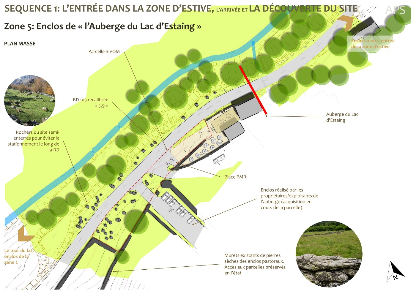 AVP, plan masse détaillé zone 5