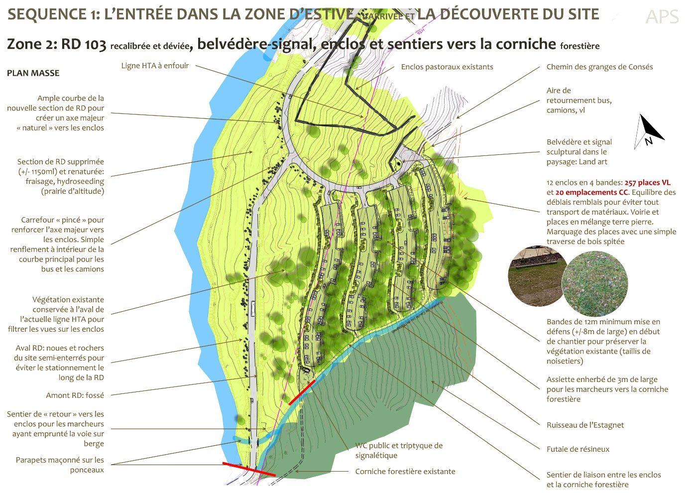 AVP, plan masse détaillé zone 2