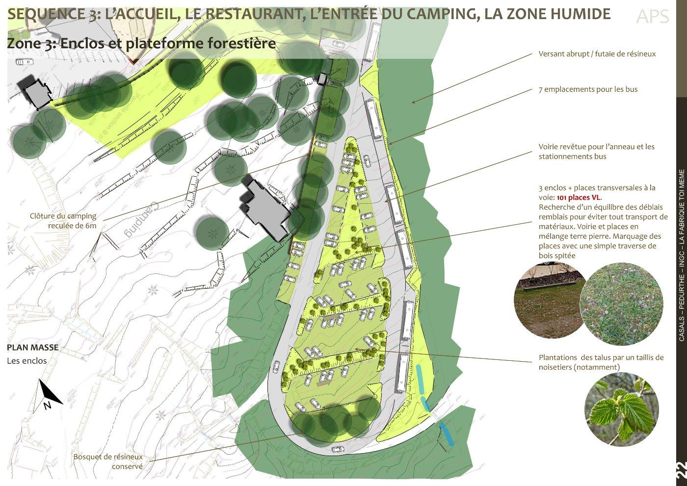 AVP, plan masse zone 3