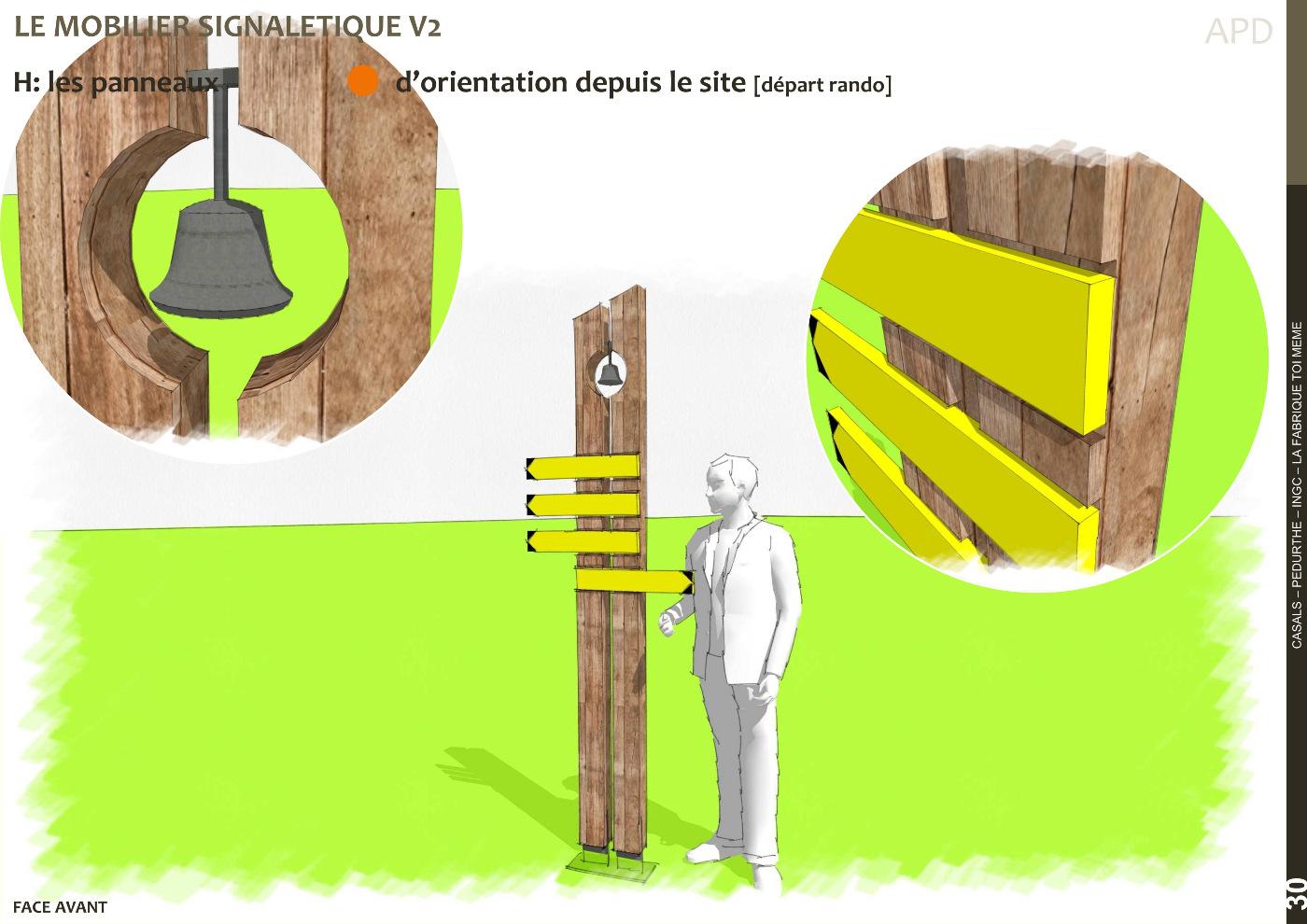 AVP, mobilier signalétique scénario 2